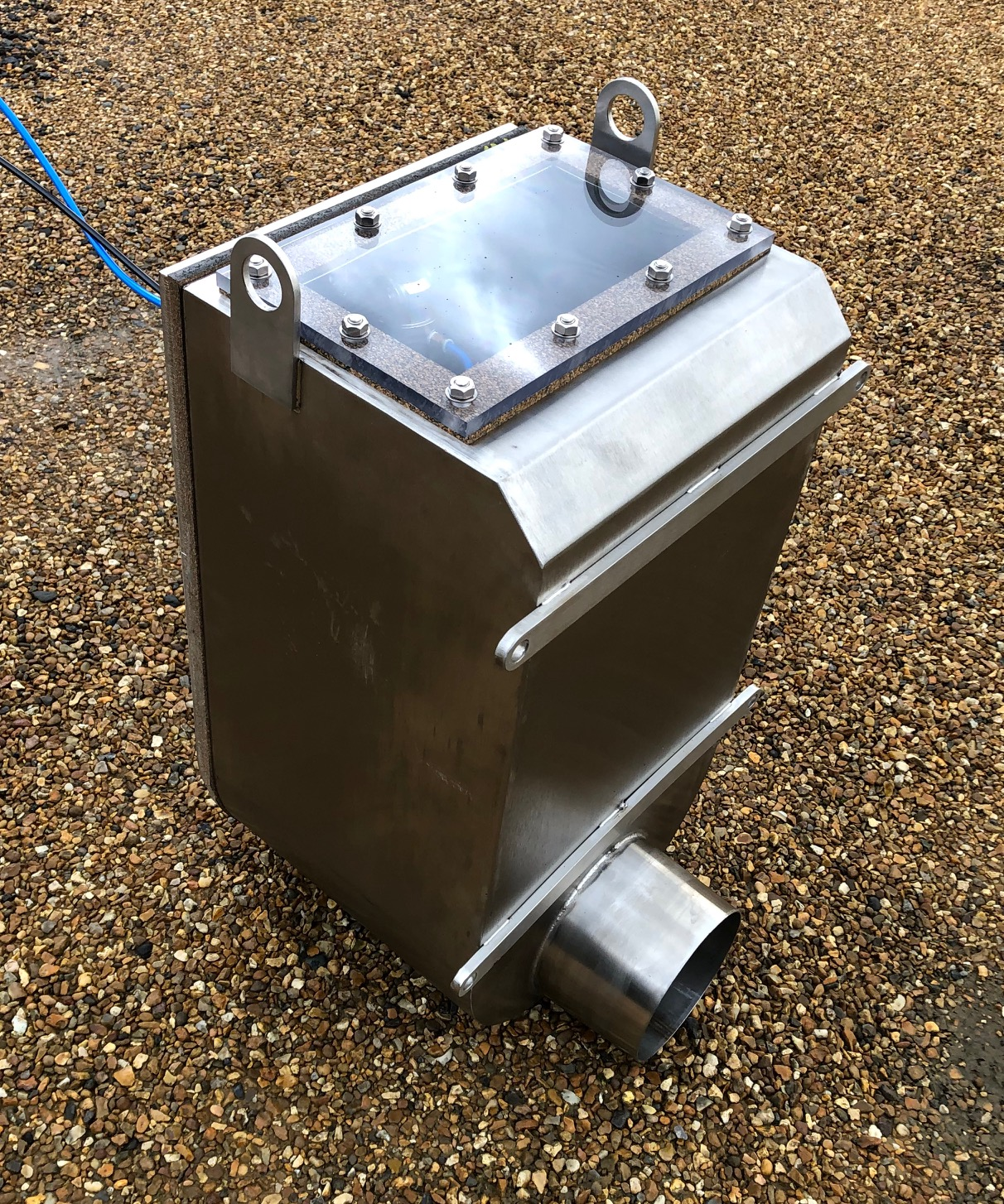 Reverse Mounted Pollution Containment Box Valve 160mm in stainless steel